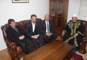 Koordinator Diyaneta Turske Teufik Muhammed, Omer Kajoshaj, Ahmet Ahmatović i reis Fejzić